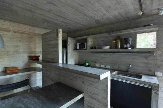 cocina fabricada en cemento