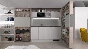 cocina compacta en armario para apartamentos